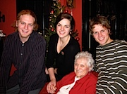 Li, Ry and Kai with Grandma Kinnon. Click for bigger.