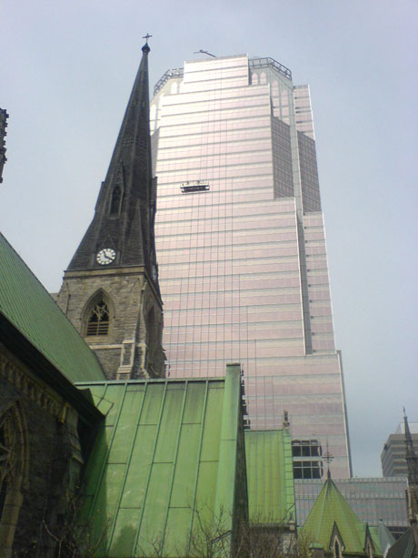 Montrealcathedralkpmgtower